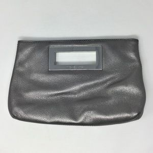 Michel Kors MK Gray Leather Clutch Bag